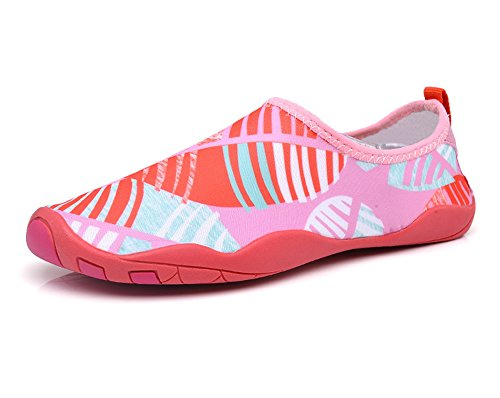 UNN Women Quick-Dry Water Shoes Slip-On Multifunctional Sneakers For Dive Surf Swim Beach Yoga Pink