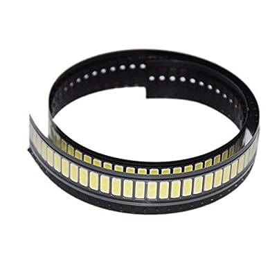 FidgetFidget 100pcs LED TV Screen Repair Backlight Lamp Beads Cold White LG 1W 6V 6030