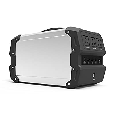 ExpertPower Alpha 400 444Wh Emergency Backup Lithium Powered Solar Generator with 400W Inverter, 12V Car Socket, USB Socket and More for Camping and Outdoor Portable Power Station