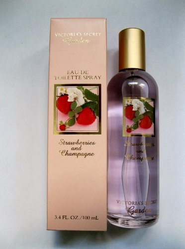 VICTORIA'S SECRET GARDEN EDT EAU DE TOILETTE SPRAY STRAWBERRIES AND CHAMPAGNE 3.4 OZ 100 ML DISCONTINUED SUPER RARE ()