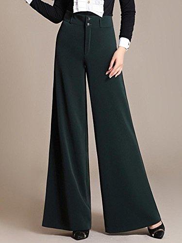 Enlishop Women High Waist Wide Leg Oversized Long Palazzo Pants Trouser Black by Enlishop (Image #3)