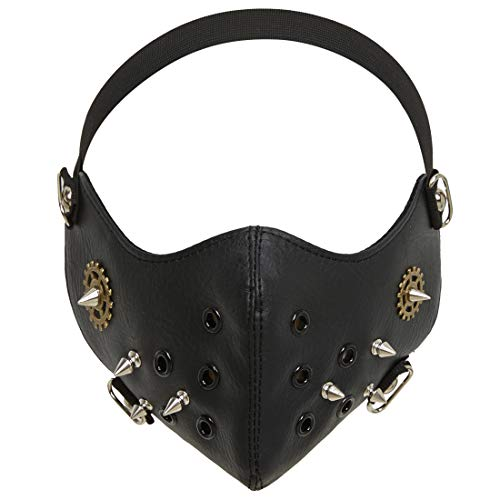 - KOGOGO Steampunk Mask Leather Half Face Masquerade Mouth Muffle