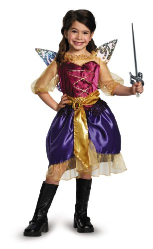 Disguise Disney's The Pirate Fairy Pirate Zarina Classic Girls Costume, X-Small/3T-4T - 80's Movie Characters Costumes