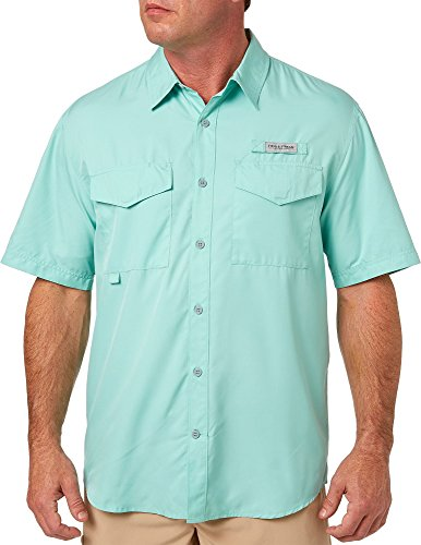 Short Field Top Sleeve - Field & Stream Men's Short Sleeve Latitude Fishing Shirt - Ocean Green, L