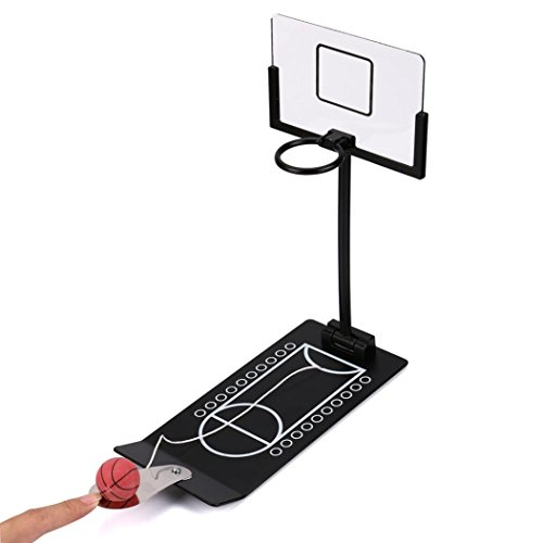 E-SCENERY Foldable Mini Metal Desktop Basketball,Table Basketball Game Mini Shoot & Score Game Office Game Set, Creative Gifts, Shooting Toy Stress Relief Toy (Black) (Used Arcade Basketball Game For Sale)
