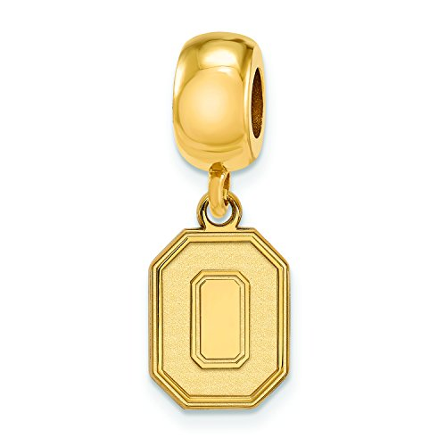 Ohio State Bead Charm Small (1/2 Inch) Dangle (Gold Plated) ()