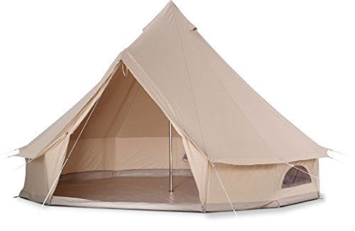 DANCHEL 20ft Canvas Bell Tents with Black Net and Grey Sheet Size 6M / 20 Feet