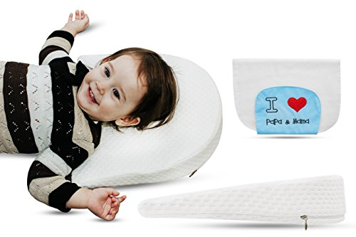 Universal Bassinet Wedge Pillow by Tuaime Dream | Pregnancy Pillow Wedge for Maternity, Waterproof, Inclined Baby Sleeping Positioner + Absorbent Baby Washcloth