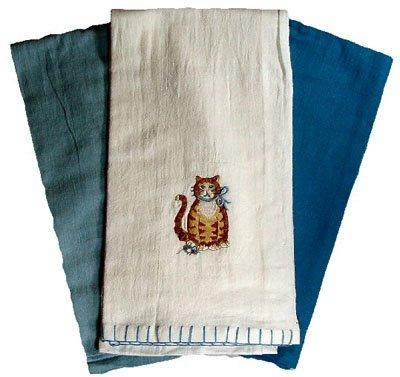 UPC 723886311786, KITTY cat KITTEN feline Kitchen Flour Sack Pantry tea towel home decor 3 piece SET