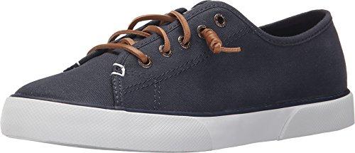 SPERRY Women's Pier View Sneaker, Navy, 7.5 Medium US (Side Gore Leather)