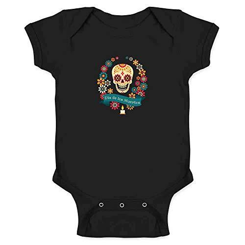 Dia de Los Muertos Sugar Skull Halloween Horror Black 12M Infant -