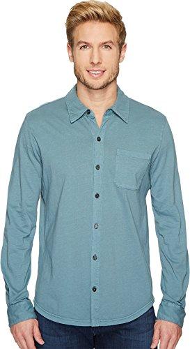 Mod-O-Doc Men's Summerland Knit Long Sleeve Jersey Button Front Shirt Oasis (Full Button Jersey Shirt)
