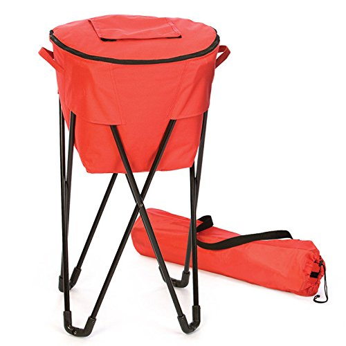 Picnic Plus 72 Can Insulated, Leakproof Tub Cooler with Stand and Travel Bag Black