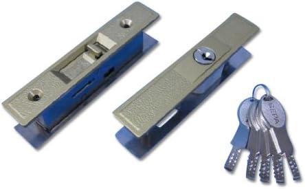 ヒナカ社製 ディンプルキータイプ取替引違戸錠 GA-800-DX-AGアンチックゴールド色 耐ピッキング性能10分以上