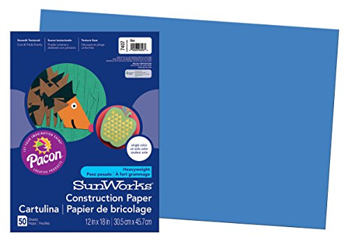 PACON CORPORATION CONSTRUCTION PAPER BLUE 12X18