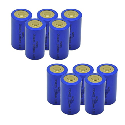 C size D size lithium battery 3v Count:Pcs (CR34615 (D size), 10) by PK Cell