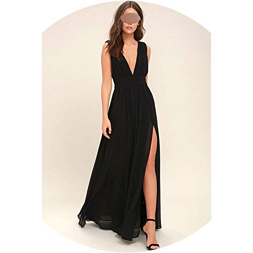 2019 Summer Women Sexy V Neck Sleeveless Beach Dresses Ladies Casual Loose Party Dress Plus Size,5,XXL