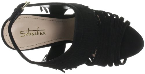 Sebastian WOMAN'S SHOE S5226 CAMNER - Sandalias de tela para mujer Negro