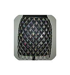 Rhinestone Crystal Corset Wide Tassel Fringe Belt