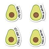 Avacado Packs Sticker Pack Avocado Stickers - 4 Pack - Sticker Vinyl Decal - Laptop, Phone, Tablet Vinyl Decal Sticker (4 Pack) S183148