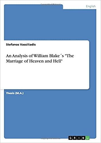 An Analysis of William Blake´s 'The Marriage of Heaven and Hell'