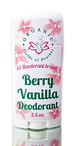 Organic Deodorant-Berry Vanilla-Healthy All Natural Deodorant Detoxes with No Aluminum - Handcrafted in New Hampshire - Best Natural Women's Hypoallergenic Deodorant That Works