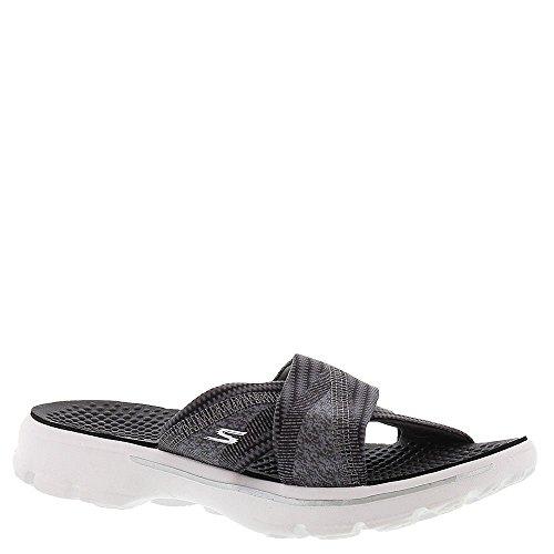 Skechers Print Sandals - Skechers Go Walk 3 Mellow Womens Slide Sandals Black/White 7