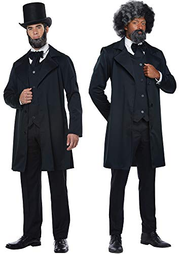 (California-Costumes Abraham Lincoln Frederick Douglas Outfit Halloween Costume, L)