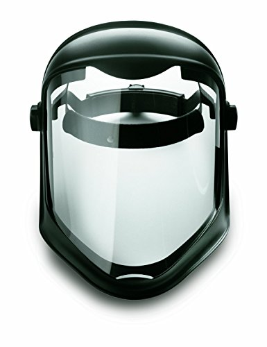 Uvex S8510 Bionic Shield, Black Matte Face Shield, Clear Polycarbonate Anti-Fog/Hardcoat Lens, 3 Pack by Uvex (Image #3)
