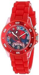 Marvel Ultimate Spider-Man  Kids' SPD3414 Analog Display Analog Quartz Red Watch