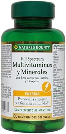 Natures Bounty Full Spectrum Multivitaminas y Minerales - 60 Comprimidos: Amazon.es: Salud y cuidado personal