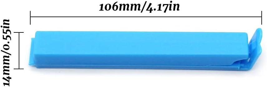 D-Orange 30 Unids Pinzas de sellado de alimentos Tres colores pl/ástico clips de sellado de alimentos para Cocina Viaje Oficina 10.6cm