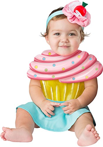 Fun World Baby Girls' Cupcake Cutie, Multi, (Halloween Cupcake Costume Baby)