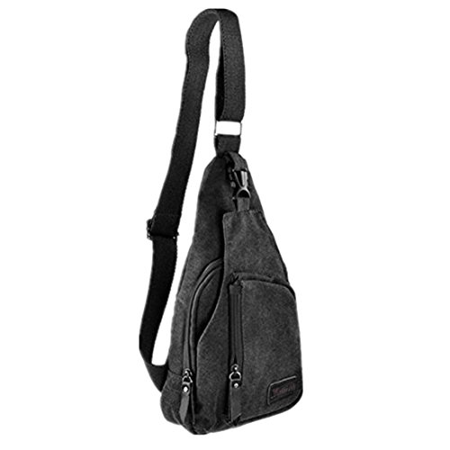 498cba5e970 Kalevel Cool Outdoor Sports Casual Canvas Unbalance Backpack Crossbody  Sling Bag Shoulder Bag Chest Bag for