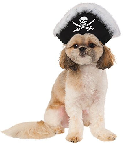 Pet Pirate Hat, Medium/Large - Pet Costume Halloween Pirate