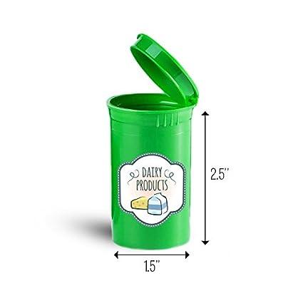 Productos lácteos alimentos almacenamiento organizador bin para vitaminas ID 8428 G