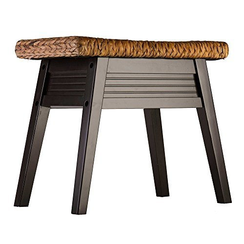 Stylish Fashion Durable Wood Davenport Lightweight Bench in Dark Espresso by Elegant Home Fashions (Image #2)