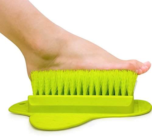 Foot scrub Brush-Feet scrubber washer -Callus remover and foot massage for shower Green