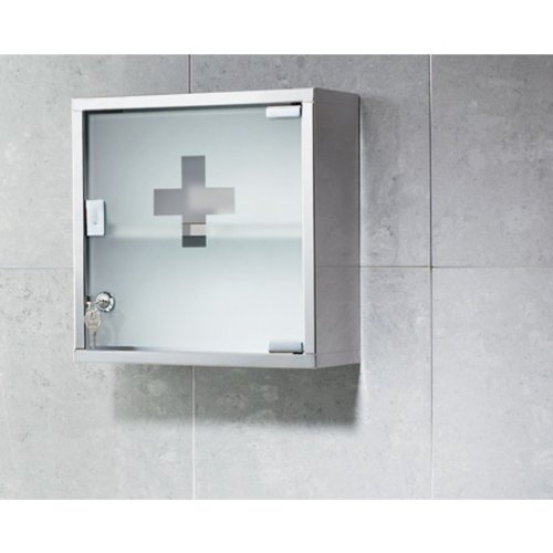 Gedy Joker Stainless Steel Medicine Cabinet Finished in Polished Finish, Chrome by Gedy