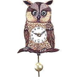 Alexander Taron Black Forest Owl' Eye 5.75-Inch Wide Wall Clock