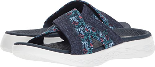 Skechers Performance Women's on-The-Go 600-Monarch Slide Sandal, Navy, 8 M US by Skechers