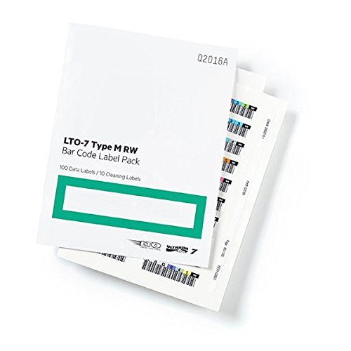 (Hpe Lto-7 Ultrium Type M Rw Bar Code Label Pack)