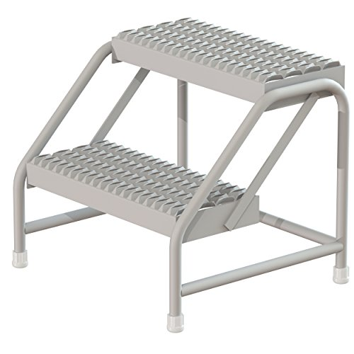 Tri-Arc WLST002212 2-Step Steel Step Stool, No Casters, 20