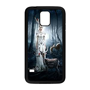 Unique Design -ZE-MIN PHONE CASE- For Samsung Galaxy S5 -Animal Deer-CUSTOM-DESIGH 8