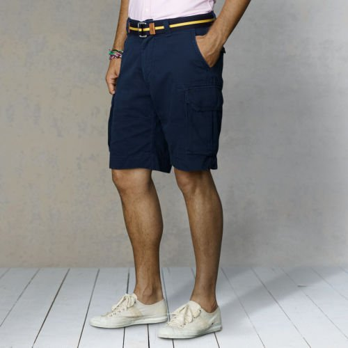 Polo Ralph Lauren Mens Chino Gellar Fatigue Shorts 38 Navy