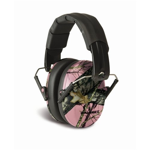 Wholesale GSM Outdoors GWP-FPM1-PKMO Walkers Game Ear Pro-Low Profile Folding Muff In Pink Mossy Oak, Camouflage for cheap