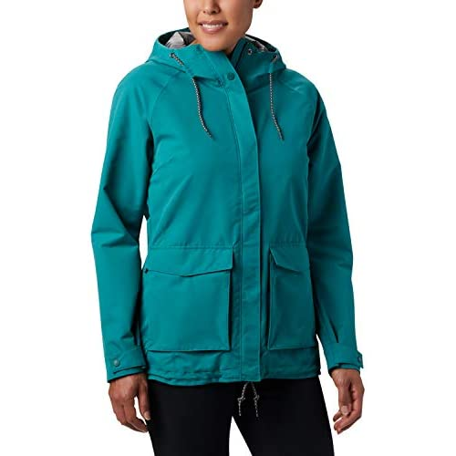 chollos oferta descuentos barato Columbia South Canyon Chaqueta Impermeable Mujer Verde Waterfall S