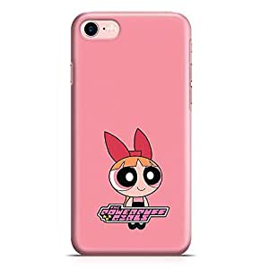 Loud Universe Pink Cute Power Puff Girl iPhone 8 Case Pink Cartoon Classic iPhone 8 Cover with 3d Wrap around Edges