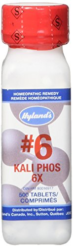 Hyland's #6 Kali Phos (potassium phosphate) For Stress, Simple  Nervous Tension & Headaches , 500 Count