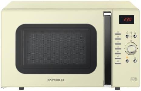 Daewoo - Horno microondas (28 litros), color crema: Amazon.es: Hogar